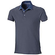 Polo piquet Grant Dark Avio Denim