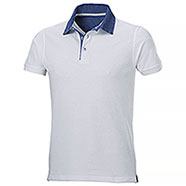 Polo piquet Grant White Denim