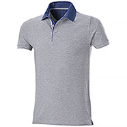 Polo piquet Grant Grey Mélange Denim
