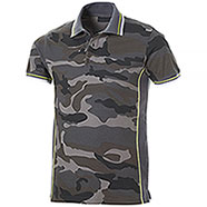 Polo Piquet Camouflage Grey-Grey