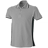 Polo Piquet Light Grey-Black