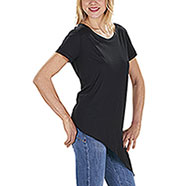 T-Shirt Lady Asimmetrica Black