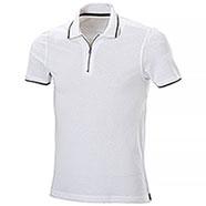 Polo Bicolor Cerniera White-Black