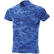 T-Shirt Combat Camo Blu