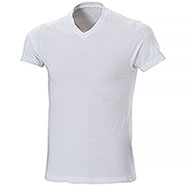 T-Shirt White Collo V