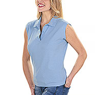 Polo Lady Top Light Blu