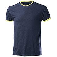 T-Shirt Trendy Navy Yellow Fluo
