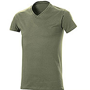 T-Shirt uomo Collo a V Cotton Army Green