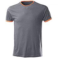 T-Shirt Trendy Cool Grey Orange Fluo