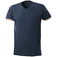 T-Shirt Nation Collo a V Navy