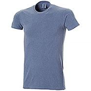 T-Shirt uomo Revolution Blu Jean Tinta in Capo