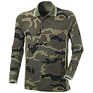 Polo piquet Melt Camouflage-Army Green Manica Lunga