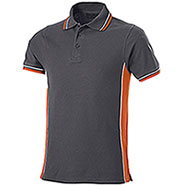 Polo Piquet Dark Grey-Orange