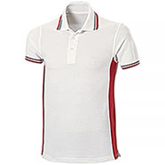 Polo Piquet White-Red