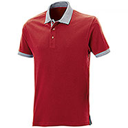 Polo piquet Force Red-Grey Mélange