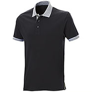 Polo piquet Force Black-Grey Mélange