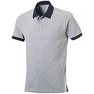 Polo piquet Force Grey Mélange-Navy