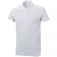 Polo piquet Collo Coreana White