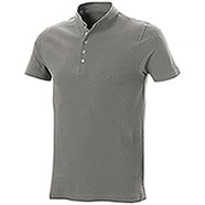 Polo piquet Collo Coreana Light Grey