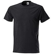 T-Shirt Fruit of the Loom Black Taglie Forti