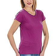 T-Shirt Donna Miami Beach Cotton Fucsia