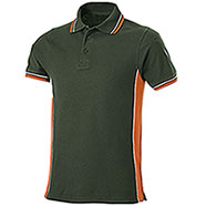 Polo Piquet Evolution Dark Green-Orange
