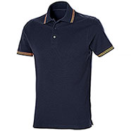 Polo Piquet Senna Navy-Orange