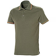 Polo Piquet Senna Army Green-Orange