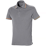 Polo Piquet Senna Light Grey-Orange