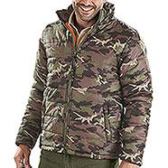 Giacca da caccia Imbottita Camouflage Green