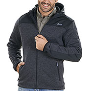 Giacca Jeep® Tricot Fleece Dark Grey Mélange/Black