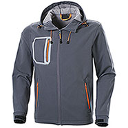 Giacca Softshell 2 Layer Grey-Orange