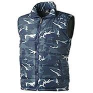 Gilet Imbottito New Camouflage Blu