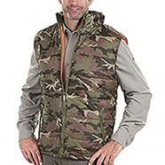 Gilet da caccia Imbottito New Camouflage Green