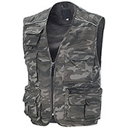 Gilet Multitasche New Barracuda Camo Grey