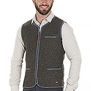 Gilet da caccia Kalibro Washable Wool Green Contrast Grey