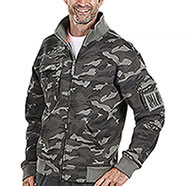 Felpa uomo Full Zip  Camouflage Grey