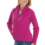 Pile Donna Full Zip Kelly Fucsia