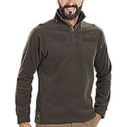 Micropile Beretta Half Zip Fleece Chocolate
