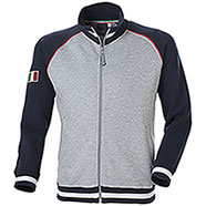 Felpa Full Zip Zurich Grey Navy