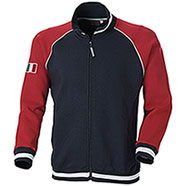 Felpa Full Zip Zurich Navy Red