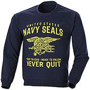 Felpa Girocollo Navy Seals Blu