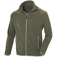 Pile uomo Nordic Army Green Full Zip