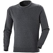 Felpa Girocollo uomo Cotton Trend Dark Grey