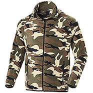 Pile uomoNordic Camouflage Green Full Zip