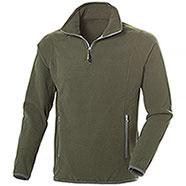 Pile uomo Nordic Army Green Half Zip