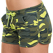Short Pant Donna Trendy Camouflage Fluo
