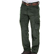 Pantaloni Velluto Verde 6 Tasche