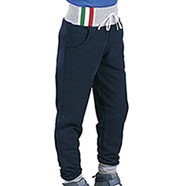 Pantaloni Bambino Felpati Navy Grey