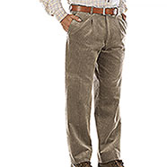 Pantaloni Velluto uomo  Visconti di Modrone Kalibro Beige